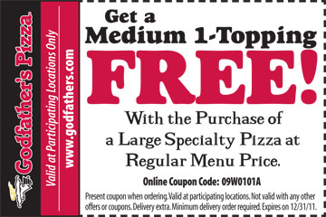 Godfathers Pizza Coupon Free