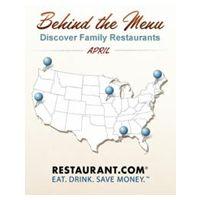 Restaurant.com Shines Spotlight on Family Dining 'Behind the Menu' in April
