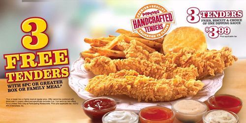 popeyes signature sauces spice up handcrafted tenders - Popeyes Louisiana Kitchen Spicy Chicken Breast