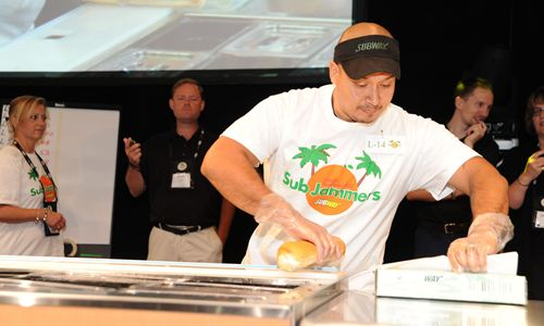 Sal Rodriguez takes first place at international sandwich building competition.