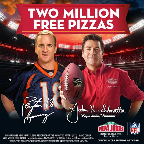 Papa John's Kicks off NFL Season with 2 Million Pizza Giveaway