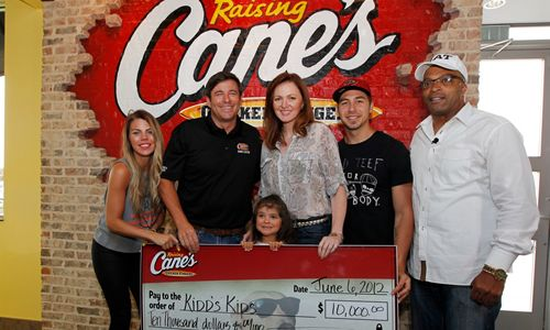Raising Cane's to Be Only Nationwide Collection Point for Kidd's Kids Day Donations
