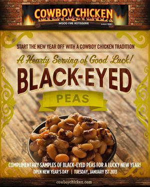 Cowboy Chicken Sees in New Year with Lucky Black-Eyed Peas