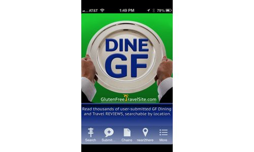 GlutenFreeTravelSite Launches DINE GLUTEN FREE iPhone App and Android App for Accessing Site's Dining & Travel Reviews